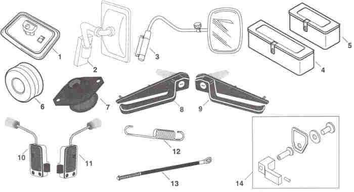 Fiat Hesston Cab Parts