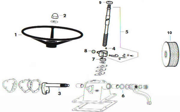 ford steering box diagram